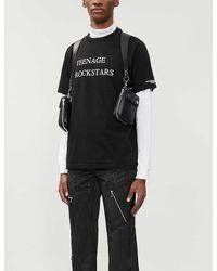 The Soloist Teenage Rockstars Cotton-jersey T-shirt - Black