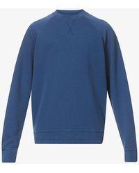 Z Zegna - Raglan-sleeved Crewneck Cotton-linen Blend Jumper - Lyst