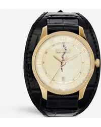 Gucci Ya126342 G-timeless Alligator-leather And Gold-plated Watch - Metallic