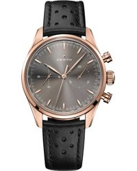Zenith - 18.2150.4069/91.c812 Chronomaster Heritage 146 Rose-gold And Leather Watch - Lyst