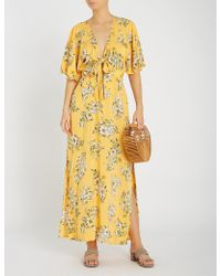 Seafolly - Midsummer Floral-print Woven Maxi Dress - Lyst