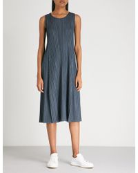 Pleats Please Issey Miyake - Mellow Pleats Pleated Midi Dress - Lyst