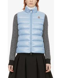 Moncler - Ghany Logo-embroidered Padded Shell-down Gilet - Lyst