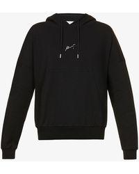 PREVU Signature Logo-print Cotton-jersey Hoody - Black