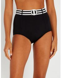 Seafolly - Belted High-rise Bikini Bottoms - Lyst