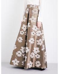 Max Mara Elegante - Tebe Floral-jacquard Maxi Skirt - Lyst