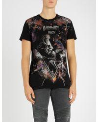 Balmain - Imprime Cotton-jersey T-shirt - Lyst