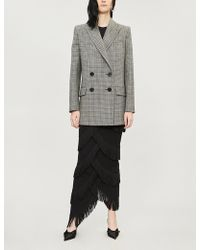 Givenchy - Checked Double-breasted Wool Jacket - Lyst
