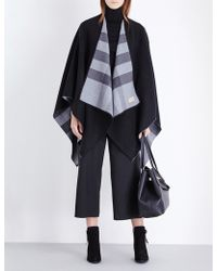 Burberry - Check Reversible Wool Cape - Lyst