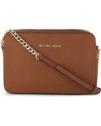 MICHAEL Michael Kors Michael Kors Women's Luggage Saffiano Leather Cross-body Bag - Brown