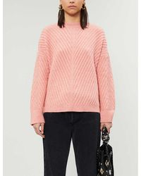TOPSHOP Pink Mix Chevron Sweater