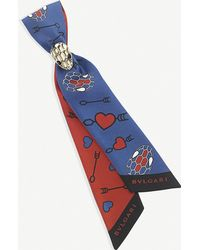209eafb515 Electro Love 'tie My Heart' Shelley Silk Scarf - Blue