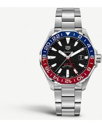Tag Heuer Way201f.ba0927 Aquaracer Steel And Sapphire-crystal Watch - Multicolour
