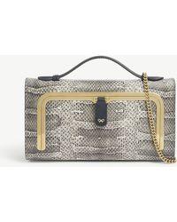 Anya Hindmarch Snake-print Mini Postbox Bag - Natural