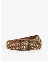 Zadig & Voltaire Nebraska Studded Leather Belt - Brown