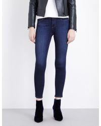 PAIGE   Ladies Blue Skinny Mid-rise Jeans   Lyst