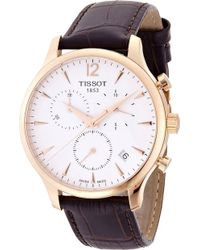 Tissot - T0636173603700 T-classic Rose Gold-plated Stainless Steel Watch - Lyst
