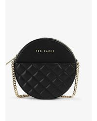 Ted Baker Cirrcus Small Quilted-leather Cross-body Bag - Black