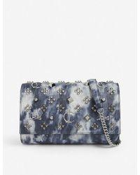 Christian Louboutin Paloma Embellished Leather Clutch Bag - Multicolour