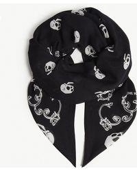 The Kooples - Skull-print Scarf - Lyst