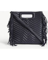 Maje   M Quilted Leather Handbag   Lyst