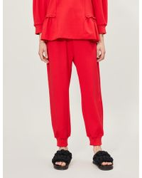 Simone Rocha Frilled-trim Stretch-jersey jogging Bottoms
