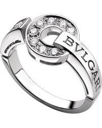 BVLGARI | - 18kt White-gold And Diamond Ring | Lyst