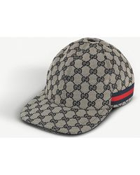 dde2efa6949 Gucci Gg Pattern Baseball Hat with Web Detail in Natural for Men - Lyst