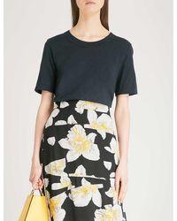 Whistles Rosa Double-trim Cotton T-shirt - Multicolor