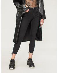 Pinko Sheila Ripped Skinny Mid-rise Jeans - Black