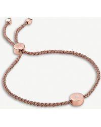 Monica Vinader Linear Solo Diamond Friendship Bracelet - Metallic
