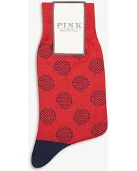 Thomas Pink - Sanna Polka Dot Cotton-blend Socks - Lyst