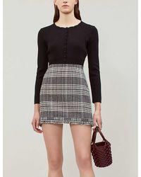 Claudie Pierlot Metis Cropped Knitted Cardigan - Black