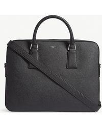 Sandro Mens Black Saffiano Leather Briefcase 1 Size