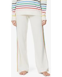 Chinti & Parker Side-stripe Mid-rise Wool And Cashmere-blend Trousers - Multicolour
