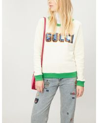 Gucci - Sequin-embellished Cotton-jersey Sweatshirt - Lyst