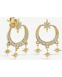 The Alkemistry - Sydney Evan 14ct Yellow Gold And Diamond Starburst Chandelier Earrings - Lyst