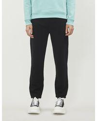 KENZO Logo-embroidered Cotton jogging Bottoms - Black