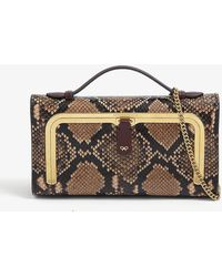 Anya Hindmarch Top-handle Mini Snake-embossed Leather Postbox Bag - Multicolour