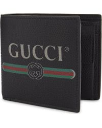 bbb7ab75e05152 Gucci Quote Grained Leather Bumbag in Black for Men - Lyst