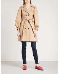 Claudie Pierlot - Bow-detail Cotton Trench Coat - Lyst