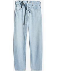 Claudie Pierlot Faded Straight High-rise Jeans - Blue