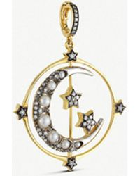 Annoushka - Mythology 18ct Yellow And White-gold And Gemstones Spinning Moon Pendant - Lyst