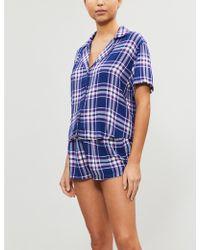 Rails Checked Pajama Set - Blue