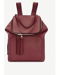Loewe Goya Small Leather Backpack - Red