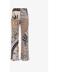Beyond Retro Pre-loved Emilio Pucci Paisley-print Jersey Trousers - Multicolour