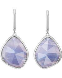 Monica Vinader - Siren Sterling Silver Blue Lace Agate Nugget Earrings - Lyst