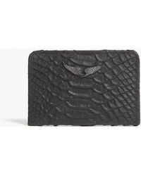 Zadig & Voltaire - Savage Crocodile-embossed Leather Card Holder - Lyst