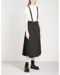 Song For The Mute - Pleated Woven Skort Trousers - Lyst