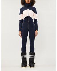 CORDOVA Alta Belted Colour-block Waterproof Twill Ski Jumpsuit - Blue